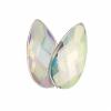Acrylic 17x9mm Pear Shape Facet Crystal Aurora Borealis
